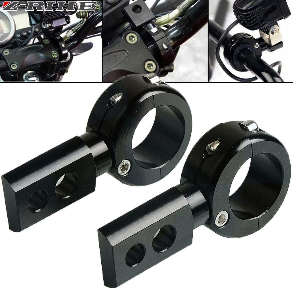 2pcs Universal LED Fog Driving Light Spotlight Mounting Bracket Offroad ATV Car Roll Cage Tube Bull Bar Clamp FOR HONDA KAWSAKI