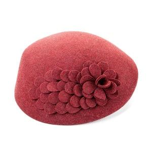 Image 4 - FS 100% Australian Wool Felt BeretsสุภาพสตรีศิลปินBeretหมวกสำหรับสุภาพสตรีหมวกCasual Boinaดอกไม้หมวกBoina Femininoหมวก