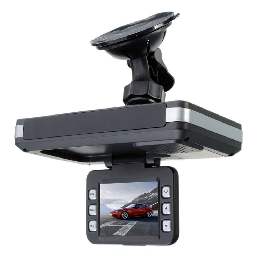 Тире Камера спереди и сзади 2 в 1 MFP 5MP Видеорегистраторы для автомобилей Регистраторы + радар Скорость детектор цикл Запись G-Сенсор APR16