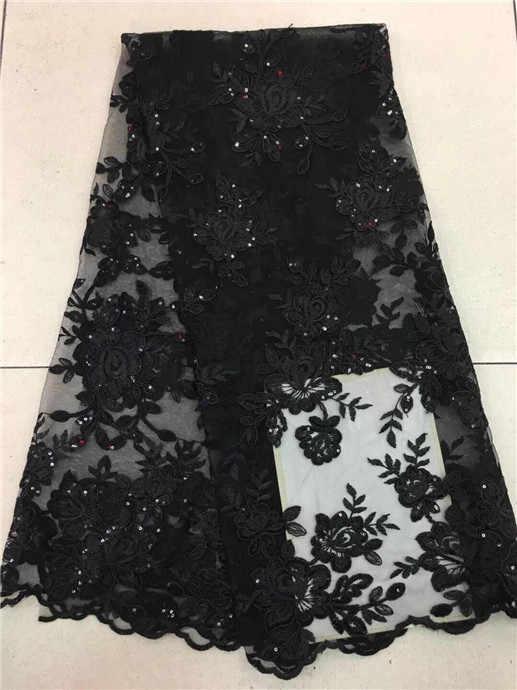 Последние сверкающих порошок ручная золото блестками кружевной ткани 5 ярдов для индийских/в нигерийском стиле свадебное/вечернее платье/stage черный персик