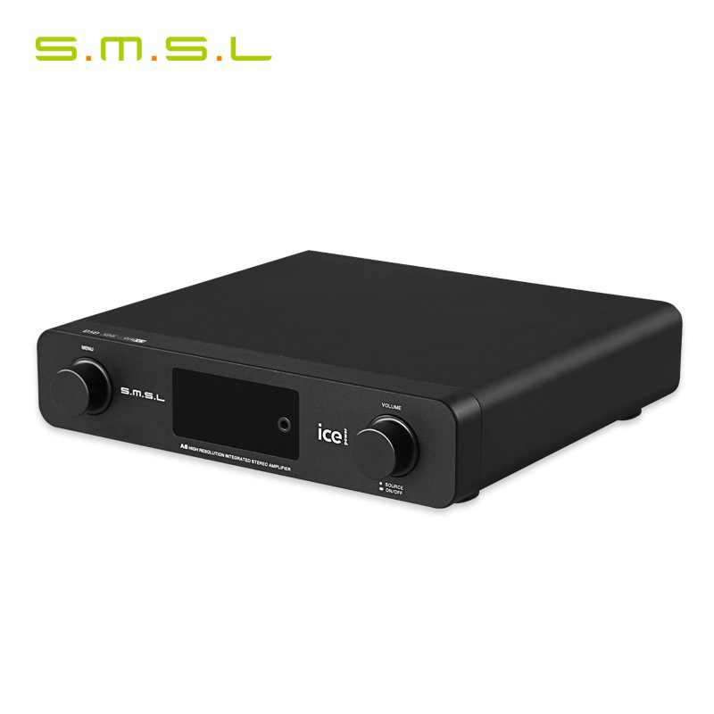 SMSL A6 HIFI Digital audio Amplifier USB DAC DSD512 USB/Optical/Coaxial/LP Player/CD Analog Input Headphone Out Amplifier 50W*2 2018 tda7492 bluetooth amplifier fiber optic coaxial usb dac decoding amplifier 50w 50w hifi amplifier