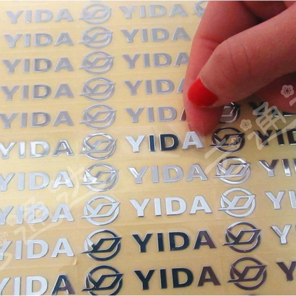 Nome personalizzato logo in metallo adesivi, auto di lusso adesivo adesivi di metallo per occhiali bottiglia, in rilievo in metallo etichette adesive per la plastica-in Adesivi da cancelleria da Articoli per scuola e ufficio su  Gruppo 3