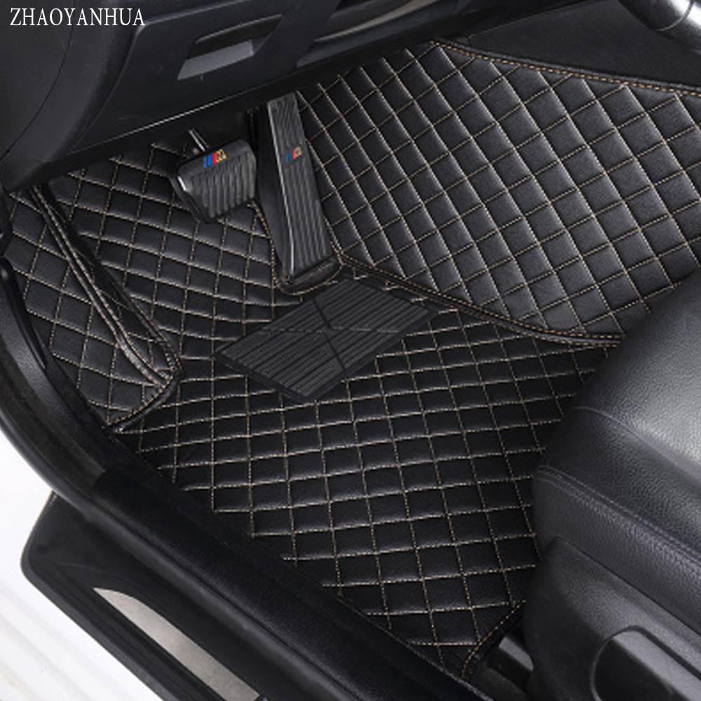 ZHAOYANHUA Car floor mats special for BMW X5 E70 F15 Leather heavy duty 5D car-styling rugs carpet floor liners (2006-now) custom fit car floor mats for dodge journey caliber 3dcar styling heavy duty all weather protection carpet floor liner ry127