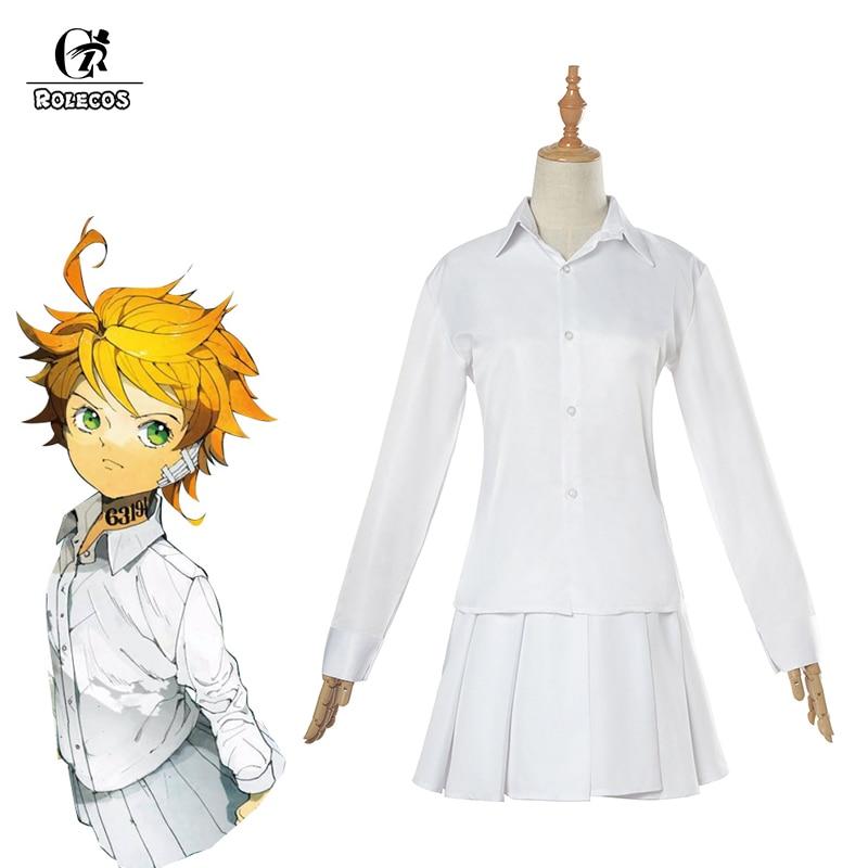 Rolecos Anime The Promised Neverland Emma Cosplay Costume Yakusoku No Neverland Cosplay Costume Girl School Uniform For Women
