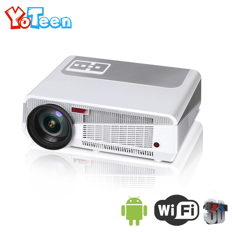 YOTEEN LED86+ Wifi Projector 3000 Lumens Home Theater Full HD LCD3D Smart Projector Android4.4 1280x768 VGA Video Movie Beamer
