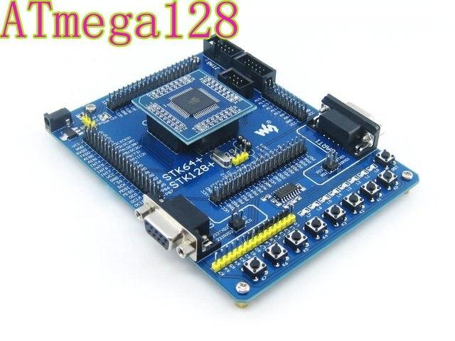 ATmega128A-AU ATmega128A AVR ATmega128 Совет По Развитию AVR Starter Kit Полный I/Os = Waveshare STK128 + Стандартный Бесплатная Доставка