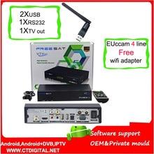 FREESAT V7 Max wifi hd récepteur Satellite Récepteur 1080 P FULL HD DVB-S2 Décodeur Soutien YouTube freesat v7 max Powervu