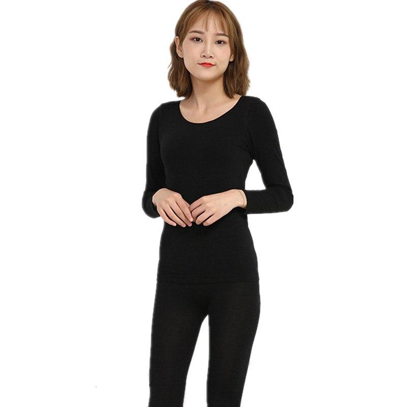 Winter Round Collar Lace Thermal Underwear Abdomen Seamless