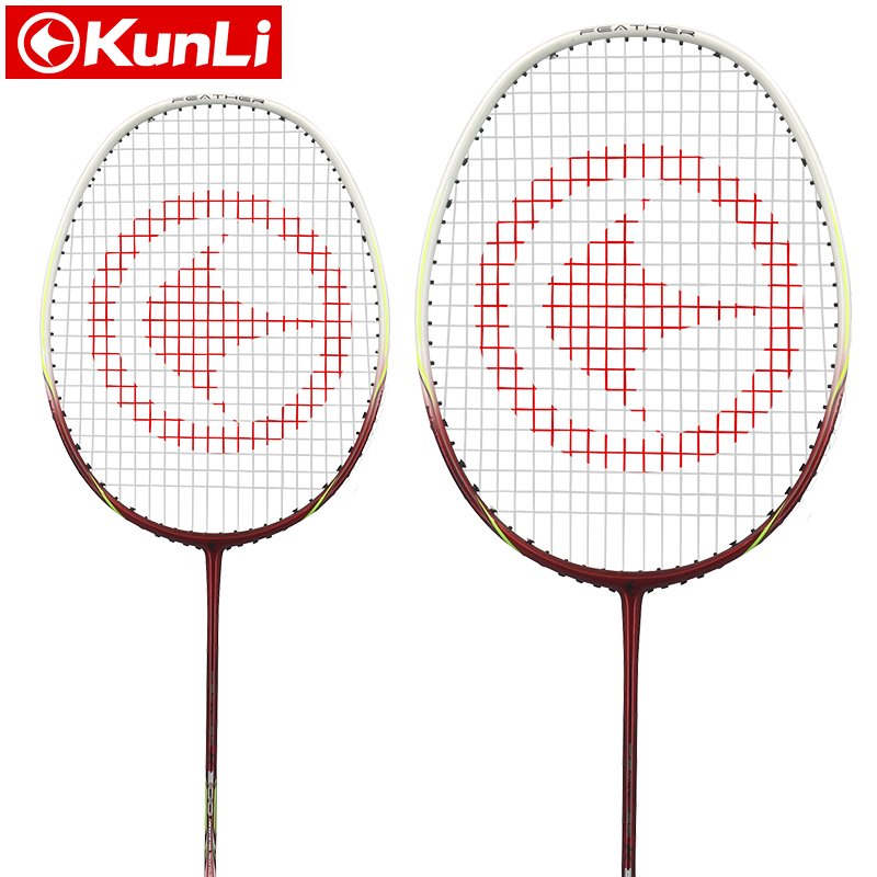 цена на original KUNLI official badminton racket 4U Feather K300 full carbon Ultra light attack racket professional feather racket