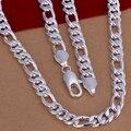 Men 's 24 '' 60 cm 10 mm 925 collar de plata 105 g sólido cadena de la serpiente n013 bolsas del regalo envío gratis