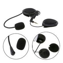 Микрофон динамик мягкий кабель аксессуар для гарнитуры для мотоциклетного шлема Bluetooth домофон работает с любой 3,5 мм-разъем