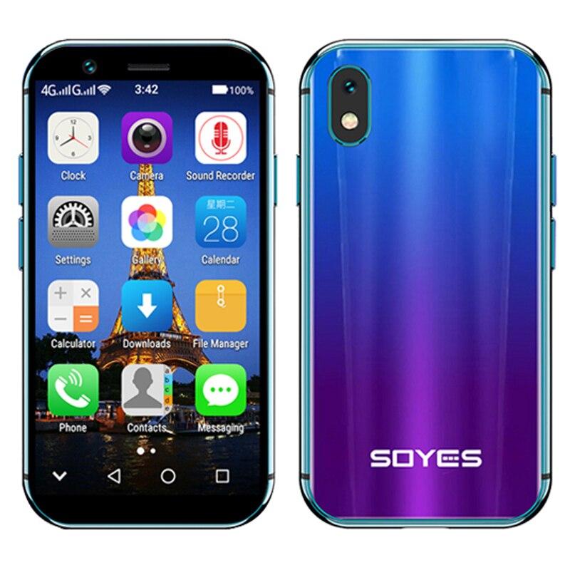 SOYES XS petit mini 4G smartphone prise en charge Google play 3GB + 32GB 2GB + 16GB 3.0 téléphone mobile android 6.0 déverrouiller double sim Face ID