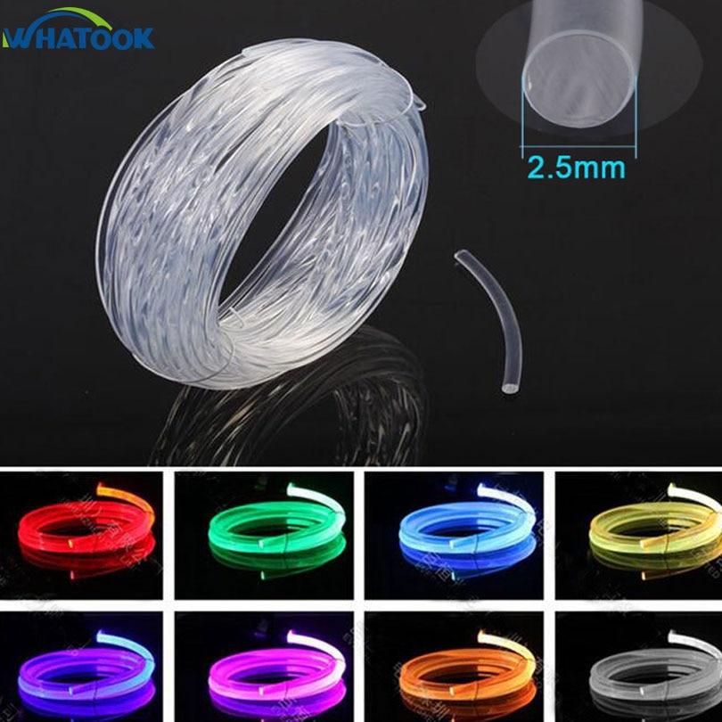 5m factory sale 2.5mm Side glow plastic optical fiber cable for lighting light decoration 10m 100M