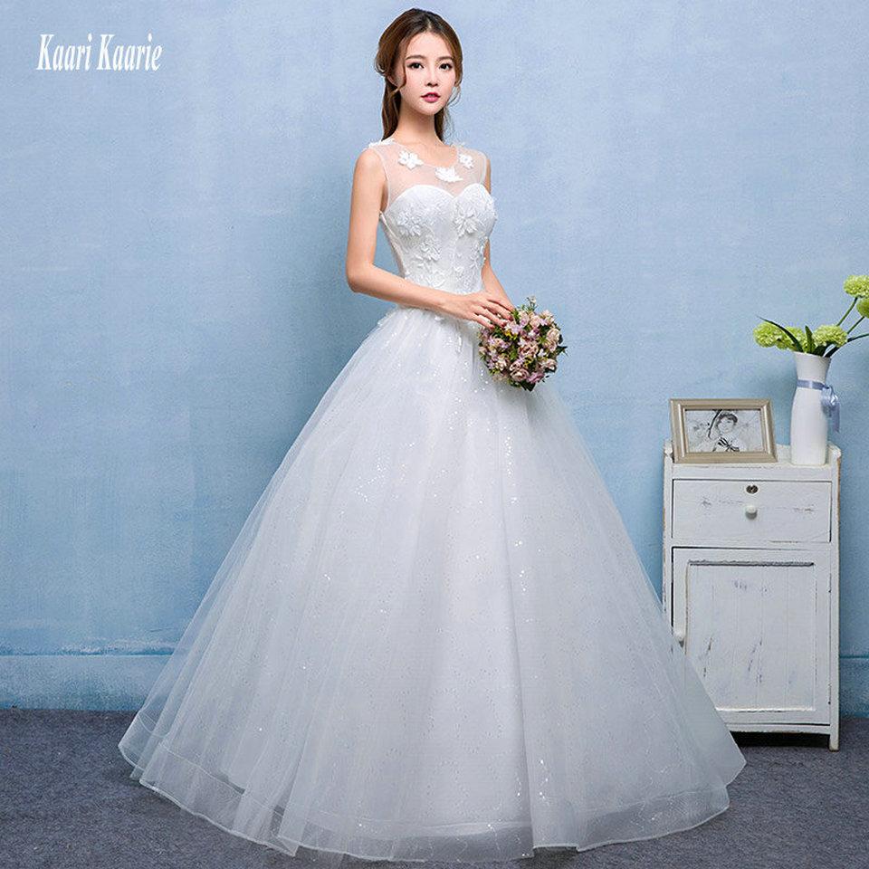 LAMYA Appliques Cap Wedding Dresses 2018 Newest Cheap Bridal Gown ...