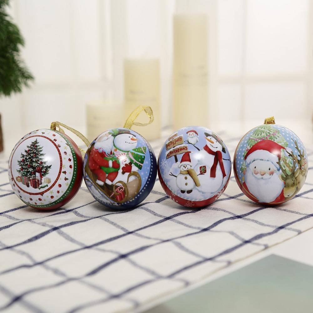 4pattens Рождество Apple Коробка Для Хранения Подарочная коробка конфет Санта Клаус снеговик лося украшения партия Главная Магазин фестиваль Дек... ...