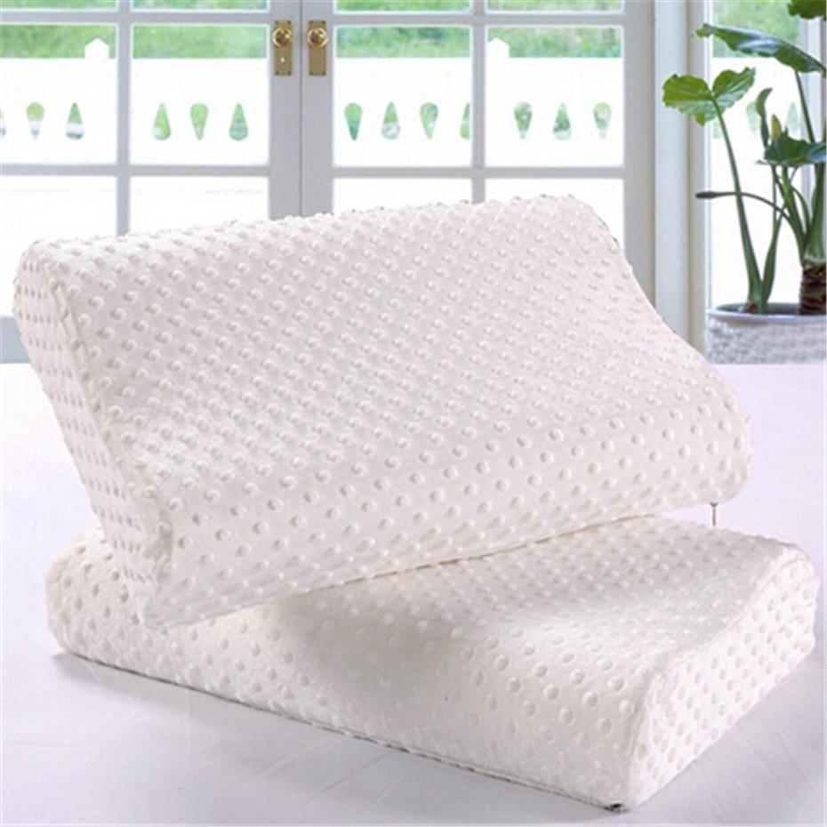 2 Sizes Memory Foam Pillow Aldult Slow Rebound Neck Cervical Protect Pillow Child Healthcare Pillows