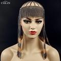 Chran New Sexy Luxury Fashion Women Punk Multi Layer Metal Head Chain Jewelry Forehead Headband Hair Piece Body Jewelry CRBJ806
