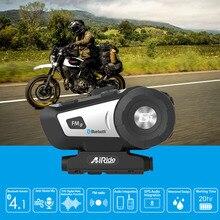 AiRide G1 moto rcycle casco auricolare bluetooth impermeabile moto BT 10 m senza fili della cuffia FM comando vocale Bluetooth 4.1