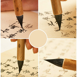 Image 4 - Calligraphy Brush Pen Exquisite Purple Rabbit Hair for Chinese Small Regular Script Soft Woolen Hair Chinese Painting Brush Pen