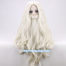 Dumbledore Wig with beard Gandalf Role Play blond long Hair Halloween costumes party wigs 65cm + wig cap