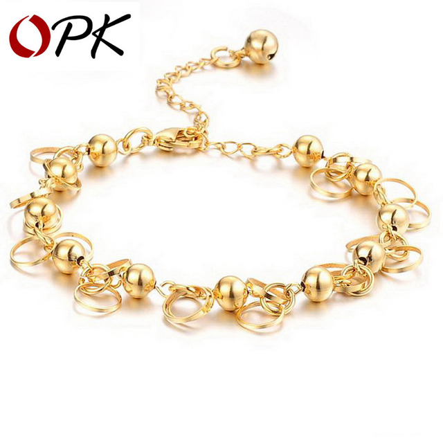 OPK JEWELRY new arrival Luxury Gold Color BRACELET charm bracelets anti-allergy, wholesaler 155