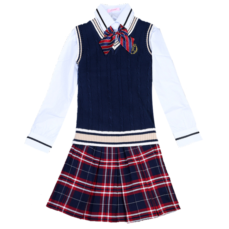 High Quality Uniforms Set School Student College English High School Student Class Uniforms School Uniforms School Girls Uniform