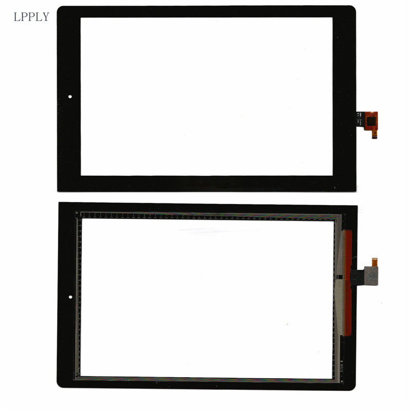 LPPLY Black For Lenovo Yoga Tablet 10 <font><b>B8000</b></font> <font><b>B8000</b></font>-H Touch Screen Digitizer Front Glass Lens FREE SHIPPING image
