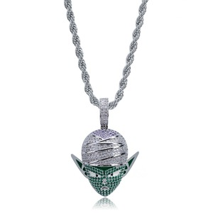 Image 4 - TOPGRILLZ Dragon Ball Character Piccolo Pendant Necklace Iced Out CZ Hip Hop Gold Silver Color Men Women Charms Chain Jewelry