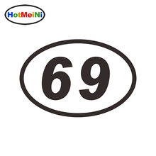 HotMeiNi Car Sticker Jdm styling Window Bumper Decal Vinyl Truck Fridge Waterproof 69 SIXTY-NINE NUMBER OVAL 15*10cm(China)