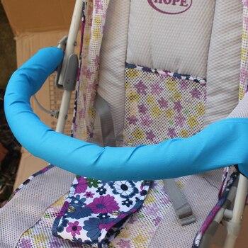 Nuevos accesorios de cochecito de bebé suave, cubierta de reposabrazos General, cubierta de barra de parachoques, cochecito Infantil, estuche de tela lavable