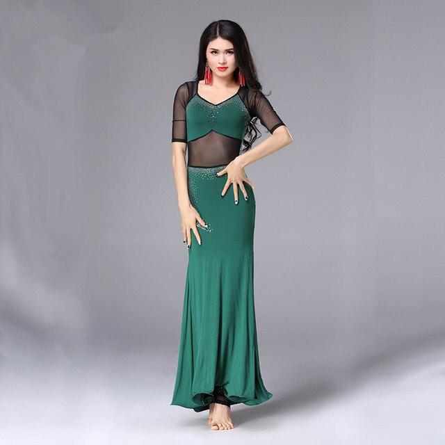 Belly Indian eastern hair swinging baladi dance costumes Bellydance oriental dancing costume clothes bra belt skirt dress 3064