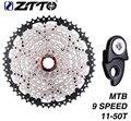 ZTTO велосипед Freewheel 9 скоростей 11-50 т кассеты для горного велосипеда 27s MTB велосипед Freewheel совместимый M430 M4000 M590 Freewheel
