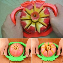 Stainless Steel Corer Slicer Fruit Cutter Fruit Divider Kitchen Accessories  Easy Cut Fruit Knife For Apple Pear Red Green