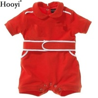 Hooyi Baby Romper Red Racing Suit Costumes Summer Short Sleeve Cycling Shirt Baby Boy Clothes 100