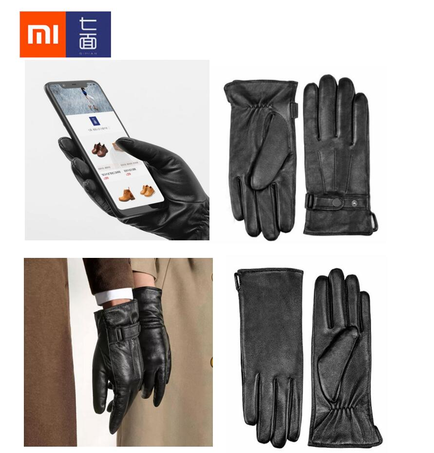 xiaomi Spanish lambskin Five Fingers Touch Screen Gloves 60% wool Windproof and warm soft unisex best gift for winter все цены
