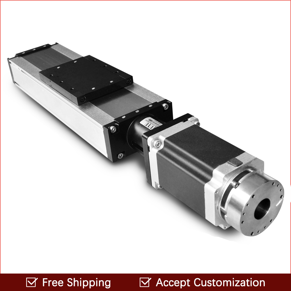 Free shipping 100~1500mm linear guide rail slide module ball screw and motor for 3d printer parts kit and cnc engraver machine free shipping 900mm travel aluminium motorized linear slide for cnc machine