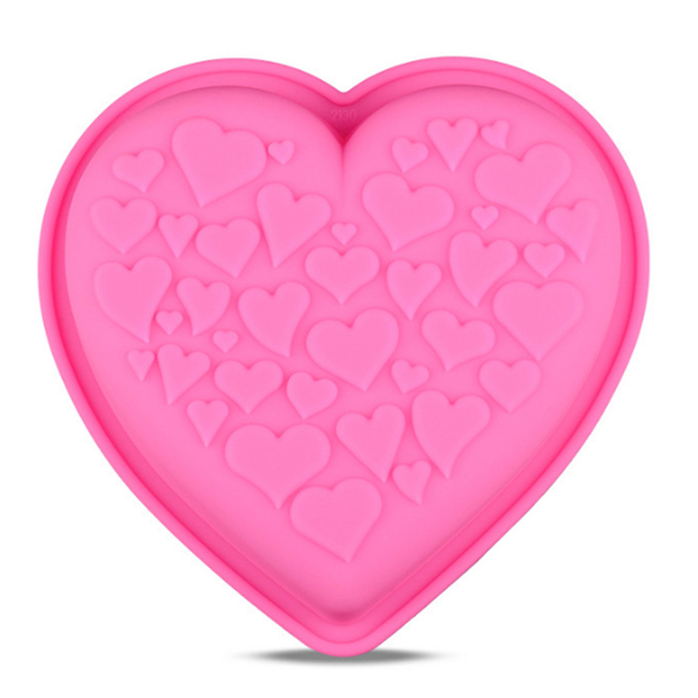 Cheap Heart Shaped Silicone Cake Pan Nonstick Baking Forms Kitchen Bakeware Supplies Silicone Cake Mold DIY Cake Baking Dishes
