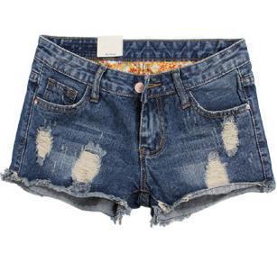 Korean Fashion 2015 Summer Women Shorts Vintage Hole Casual Jeans Shorts Female Plus Size Sexy Loose Denim Shorts