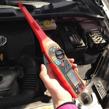 Мощный Электрический многофункциональный автоматический тестер цепи автомобильный электрический мультиметр лампа ремонт автомобиля Детектор автомобиля красный