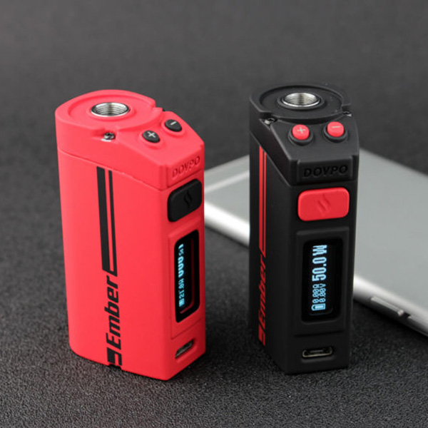 DOVPO ember Box Mod Battery for Electronic Cigarette RTA,RBA,SUBTANK Atomizer 50w Box Mod Battery Built in e Cigarette Battery vivakita original child lock design cigarette electronique fusion 50w vw mod electronic cigarette in kuwait