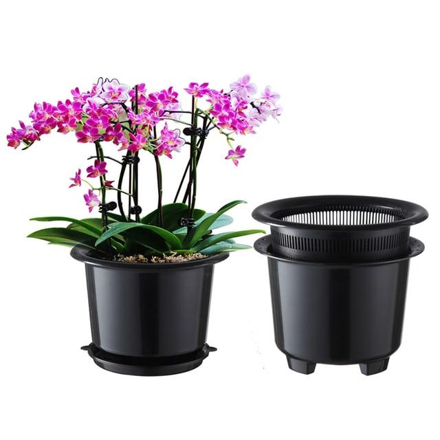meshpot 8 inches plastic orchid pot flower pot garden pot planter holder home decorenhance - Garden Pots