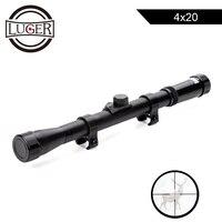 LUGER 4x20 прицелы для охоты тактический оптический прицел с 11 мм рейку For.22 Калибр Воздушный пистолет