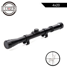 LUGER 4x20 Hunting Riflescopes Tactical Optics Reflex Sight Crosshair Scope With 11mm Rail Mount For.22 Caliber Air Gun(China)
