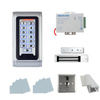 Full RFID Door Access Control System Kit Set Electric Magnetic Lock + Access Control Power Supply + Proximity Door Entry keypad