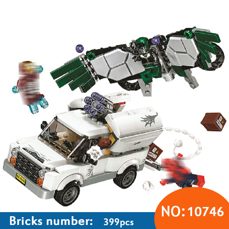 SpiderMan Super Heroes Homecoming Building Blocks DIY Educational Bricks toys gift Compatible With 76083