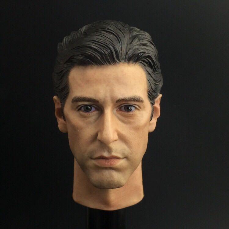 Custom 1/6 Scale The Godfather Michael Corleone Headplay Al Pacino Head Sculpt Toys