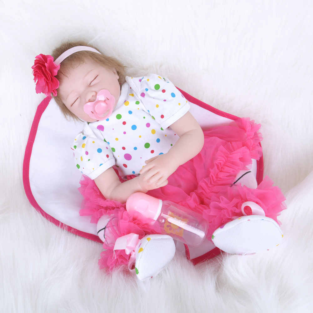 55cm Silicone Reborn Baby Doll Toys 22 inch Cheap Toddler Babies Doll Kid Birthday Gift Present Girls Play House Boneca55cm Silicone Reborn Baby Doll Toys 22 inch Cheap Toddler Babies Doll Kid Birthday Gift Present Girls Play House Boneca