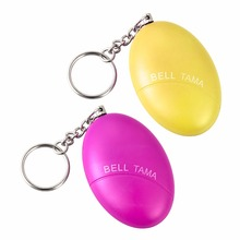 2Pcs/lot Security Protection Cute Mini Egg Shape Self-Defense Alarm Protect Personal Guard safety security Loud Keychain