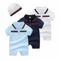 2019 summer fashion kids baby boy clothes newborn baby boy Romper set And dot hat infant clothing baby jumpsuits ropa de bebe