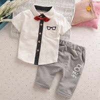 Toddler Children Clothes Summer Baby Boys Clothing Sets Gentleman Clothes Suits Kids Sweatshirt Child Formal Shirt